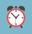 alarm clock icon flat design style simple icon on vector image vector image