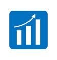 arrow move up symbol growing graph icon in blue vector image