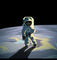 astronaut on the moon surface vector image
