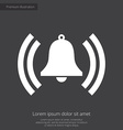 bell clock premium icon white on dark background vector image vector image