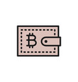bitcoin wallet cryptocurrency flat color vector image