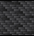 black brick wall background vector image vector image