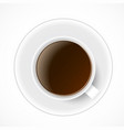 black coffee in white cup vector image vector image