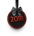 black round 2018 new year card vector image