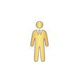 Businessman computer symbol vector image vector image