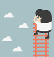 businessman on ladder Looking for success vector image