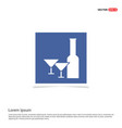 Champagne bottles icon - blue photo frame