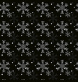 christmas seamless pattern with snowflakes black vector image vector image