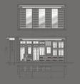 Cloakroom Cupboard Drawing v vector image vector image
