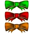 Collection bow vector image vector image