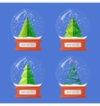 Collection of Christmas Glass Snow Globes vector image vector image