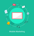 collection stock mobile marketing design style vector image vector image