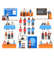 conference elements set vector image vector image
