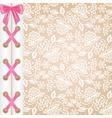 corset lacing vector image vector image