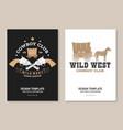 cowboy club poster flyer wild west vector image vector image