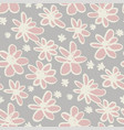 daisy sketch color seamless pattern vector image vector image