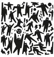 dancing people - doodles vector image