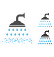 dust pixelated halftone shower icon vector image vector image
