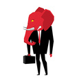 Elephant Republican politician Metaphor of vector image