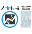Euro Dollar Chart Icon with 1000 Medical Business vector image vector image