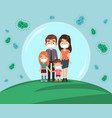 family protected from virus mom dad and vector image vector image