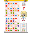 fill the pattern educational game for children vector image vector image
