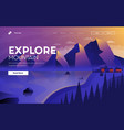 flat modern design explore mountain vector image