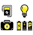 glossy electrical objects vector image