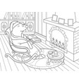 grandpa mole in his own house in the library vector image