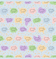 hippo seamless pattern hippopotamus vector image