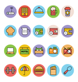 Hotel and Restaurant Icons 5 vector image vector image