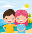 kids zone image vector image vector image