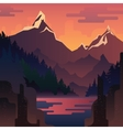 landscape with huge red mountains vector image