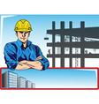 Lavoratore edile uomo vector image vector image