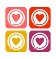 love talk rounded square icons vector image vector image