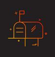mailbox icon design vector image