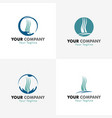 medical hair logos vector image vector image