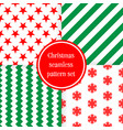merry christmas seamless patterns endless vector image vector image