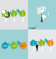 Modern infographics template style Bubble speech vector image vector image