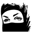 Muslim woman in hijab vector image
