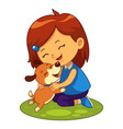 my puppy pet friend vector image vector image