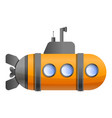 periscope submarine icon cartoon style vector image