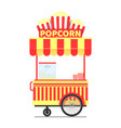 popcorn stand with cup product vector image vector image