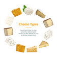 realistic detailed 3d cheese banner card circle vector image