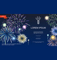 realistic holiday fireworks template vector image vector image