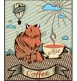 retro banner coffee vector image vector image