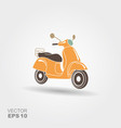 retro scooter isolated italian style vector image vector image