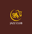round emblem music jazz club with sax vector image vector image