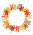 round maple leaf autumn frame seasonal fall vector image vector image