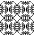 seamless black and white vintage texture vector image vector image